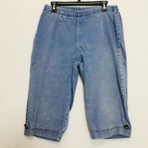 Croft & Barrow Women's Stretch Jean Shorts Large L